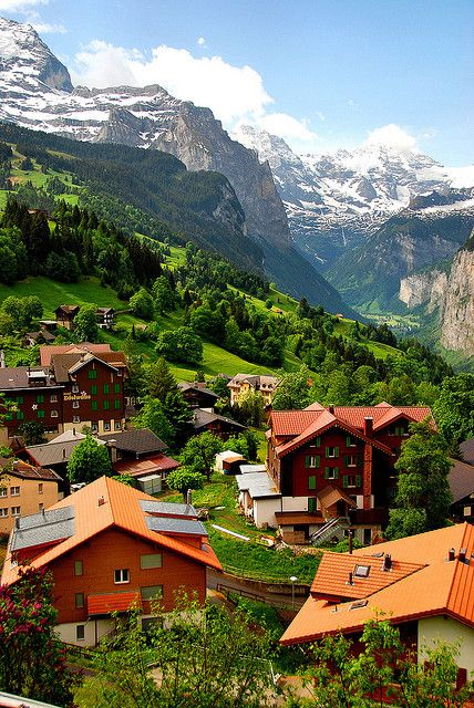 Wengen, Switzerland I literally have this exact same picture on my phone that I took when we were there