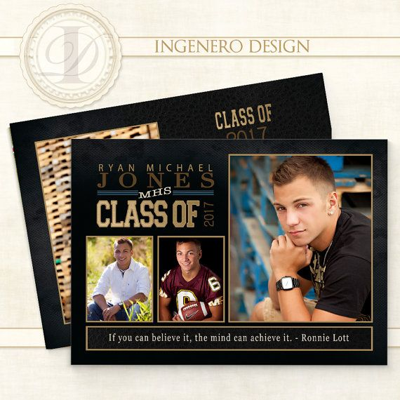 Introducing Ryan J Grad Card! This 5x7 graduation invitation allows for four images to be placed on the card, along with a large section for invitation text. You will share your graduates photos in style with the Ryan J Card.  This Ingenero Design Card Template is an INSTANT DOWNLOAD. The templates are created and modified with Photoshop.  DO YOU NEED HELP PUTTING YOUR CARD TOGETHER? If you do not have Photoshop, no problem, I am here to help! Please let me help you with your template!  HOW D...