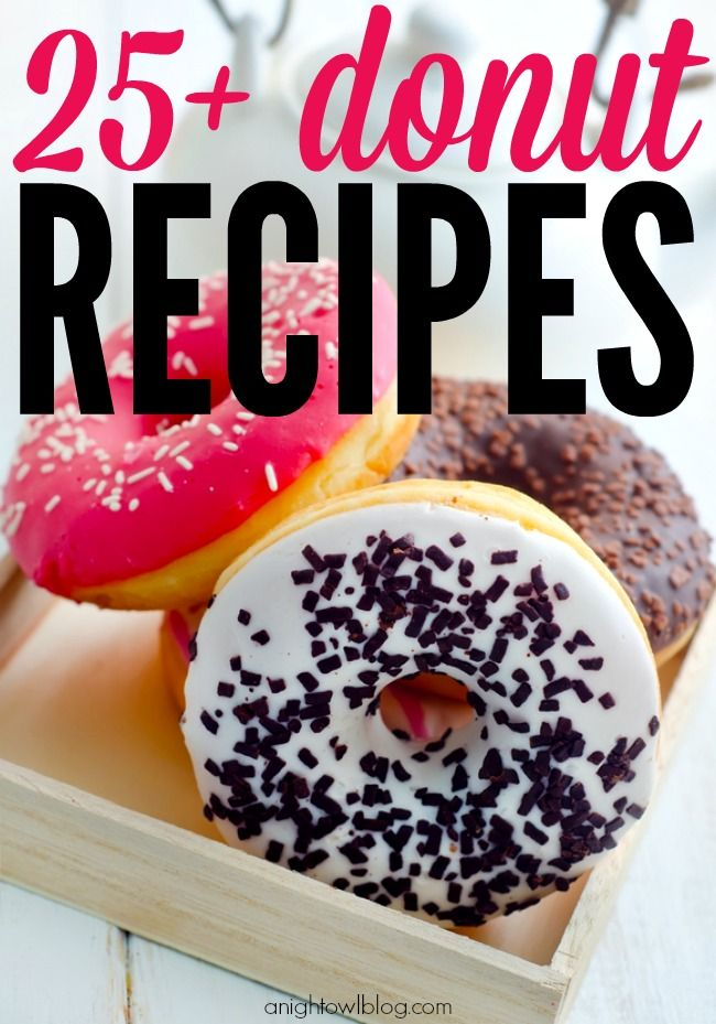 25  Donut Recipes.  Today is national donut day!