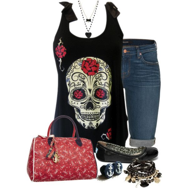 """Livia Cheyenne"" by michelle-hersh-wenger on Polyvore. Made for another daughter using her Rockabilly/BetseyJohnson/rocker chic style."