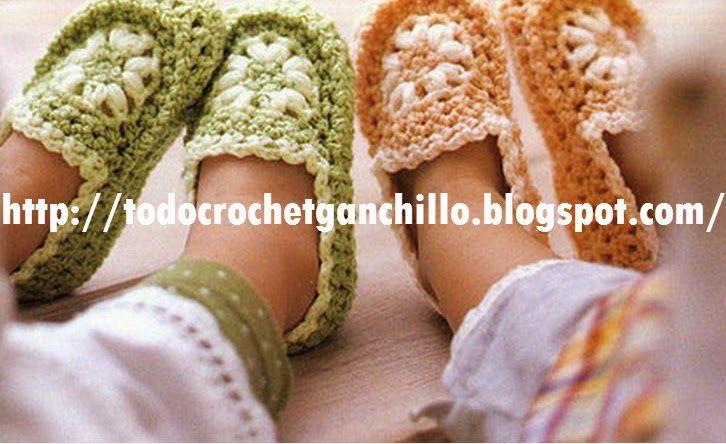 Mejores 242 imágenes de CROCHET : pantuflas y mas en Pinterest ...