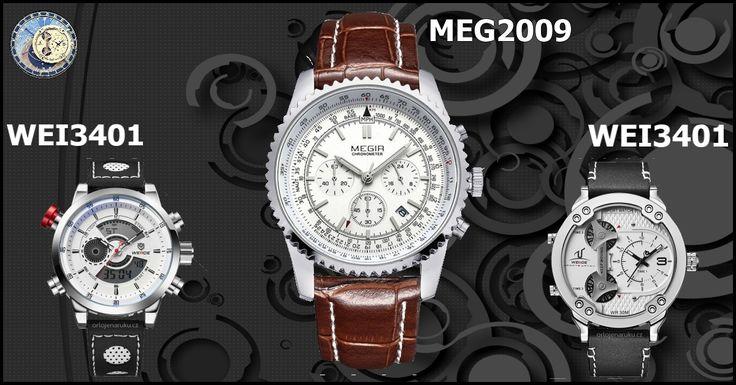 Hodinky Weide WEI3401, Megir MEG2009G,