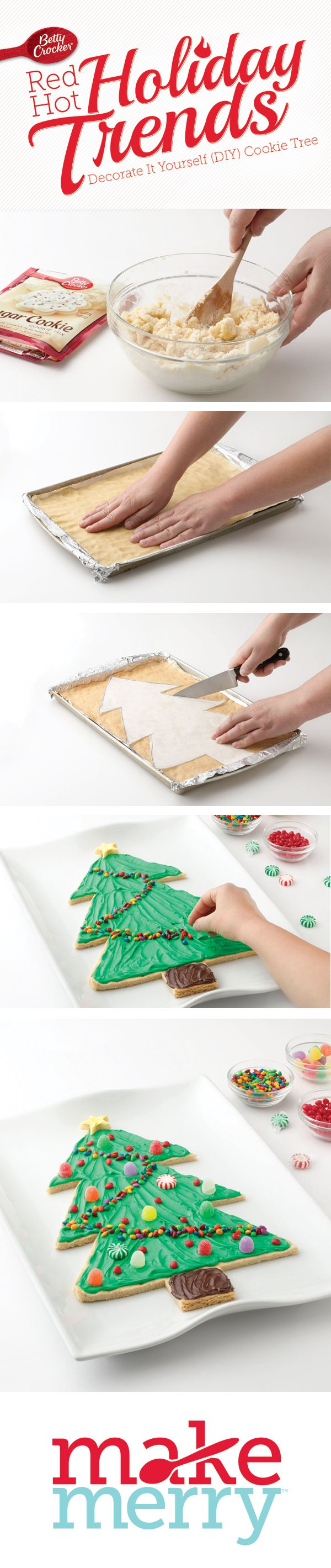 Red Hot Holiday Trend: DIY Cookie Tree How-To #MakeMerry. The directions are under this pin. Enjoy!