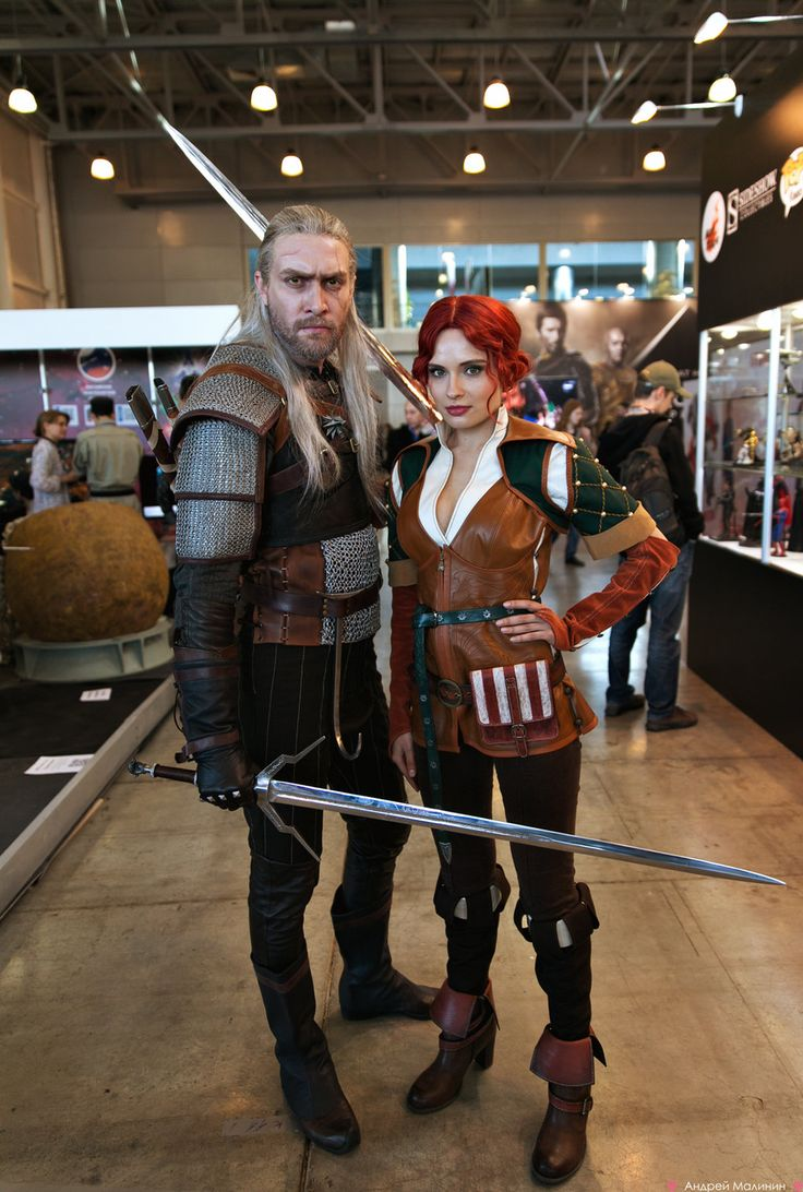 Geralt i Kristina Afanasieva Cosplay Triss Comic Con Moskwa 2014 Wiedźmin The Witcher