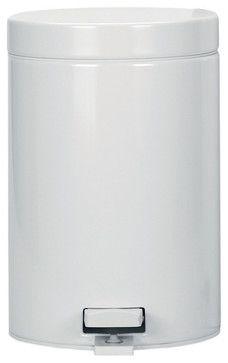 Brabantia Pedal Bin, 0.8 Gallon, White modern kitchen trash cans