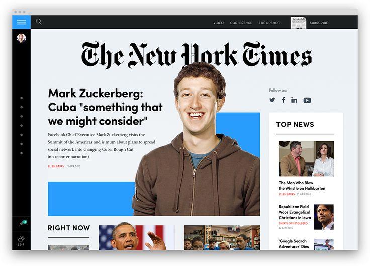 nytimes, portfolio, redesign