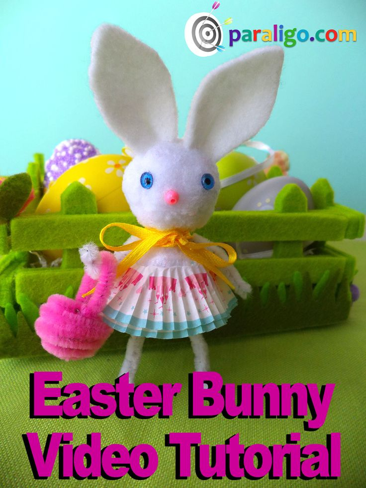 Easy Easter Craft! How to make a cute easter Bunny #Easter Crafts, #Easter Crafts for kids, #Easter Decorations, #Easter Bunny, #Easter Bunny Funny