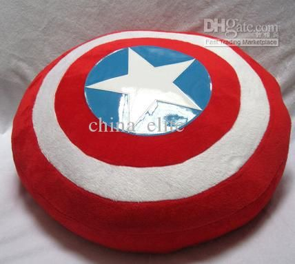 Wholesale New The Avengers Movie 36cm Captain America Attack Shield Plush Toys Cushion throw pillow Toy, Free shipping, $24.46/Piece | DHgate