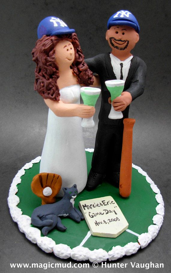 Bi-racial Wedding Cake Topper,   wedding cake toppers, these were commissioned for Interracial marriages and wedding ceremonies.... be inspired by these examples and let us know what details would make the most memorable mixed race - interracial wedding keepsake for you and yours!... #magicmud  $235    www.magicmud.com 180 231 9814