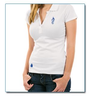 "SeaHorse-Collection, women's polo shirt in heavy piqué ""Low drop"" design, 49,99€"