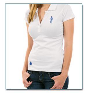 SeaHorse-Collection, polo femme piqué lourd design goutte basse, 49,99€