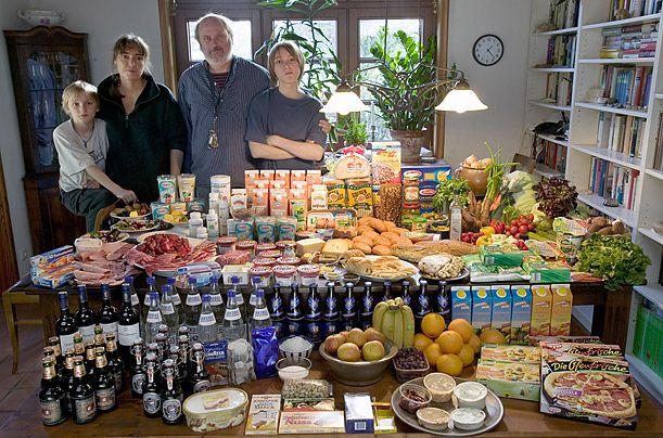 Families around the world photographed with a week's worth of groceries – Germany