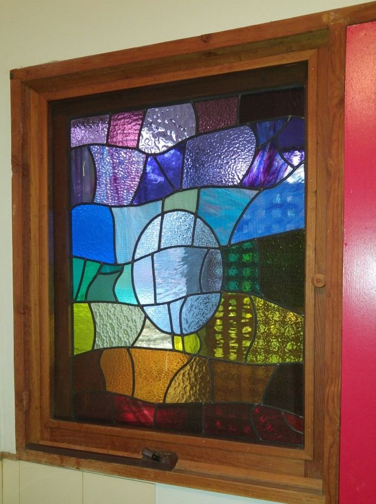 Beautiful colourful leadlight window... perfect pick me up for a laundry | Student work, Wednesday night class, Julie