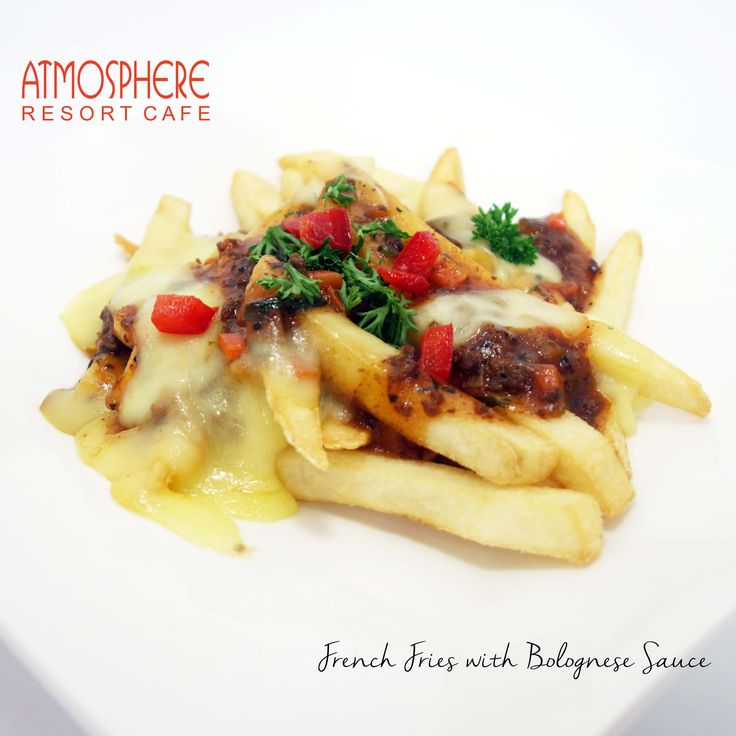 FRENCH FRIES WITH BOLOGNESE SAUCE