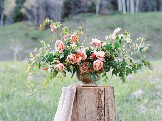 Romantic spring bridal portrait