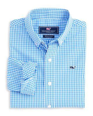 Vineyard Vines Boys' Gingham Button-Down Shirt - Little Kid | Bloomingdale's