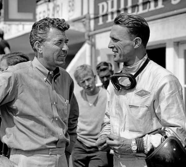 RIP Carroll Shelby.  With Dan Gurney at Le Mans.