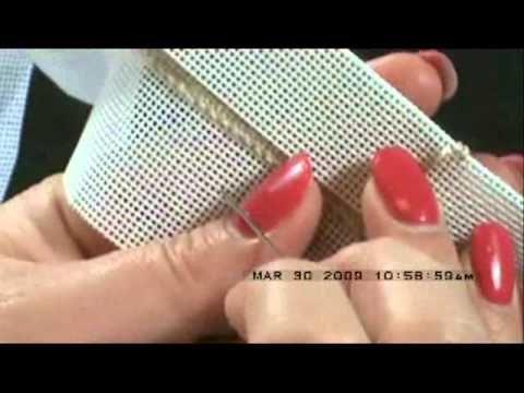 Needlepoint - Binding Stitch Tutorial