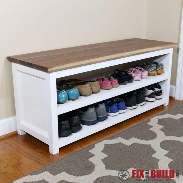 DIY Shoe Cubbie — Easy Storage for Shoes