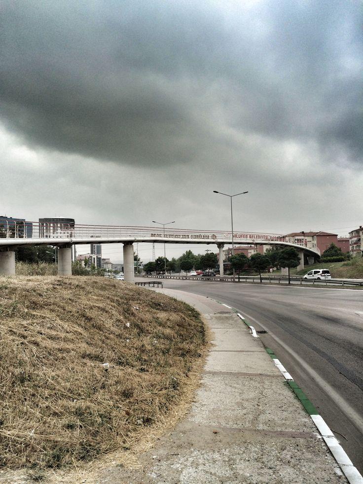 Rainy day Bursa Ata bulvarı