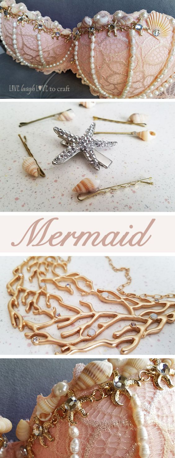 I'm so excited October is here and I've just finished up this year's costume. I'm dressing up as a Mermaid and have had so much fun creating my own mermaid bra and costume a…