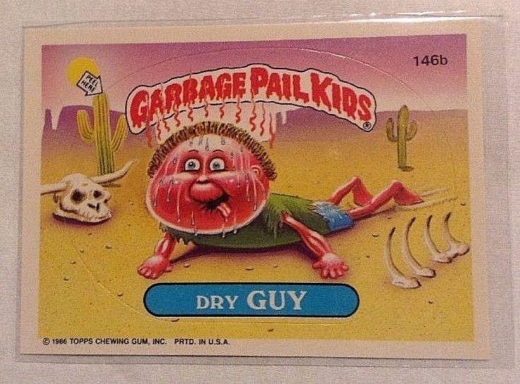 1986 Garbage Pail Kids Os4 Original Series 4 Dry Guy 146b Gpk Topps Topps Garbage Pail Kids Garbage Pail Kids Cards Garbage