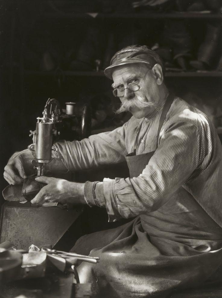 August Sander. Master Shoemaker. 1940-42.