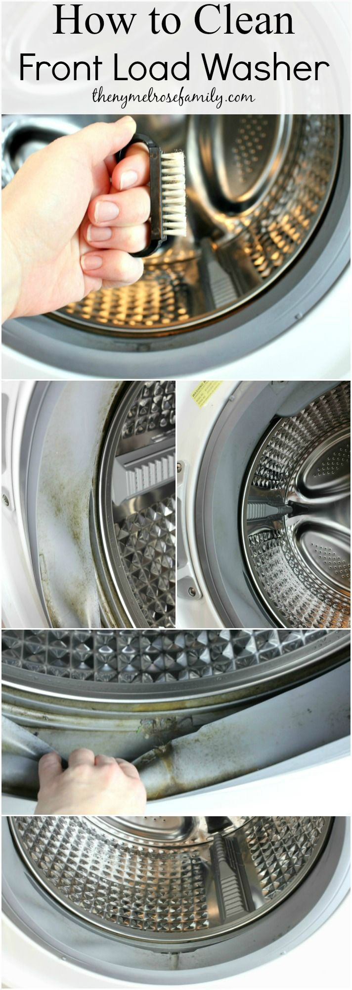 How to Clean your Front Load Washer so that it sparkles and SMELLS clean!