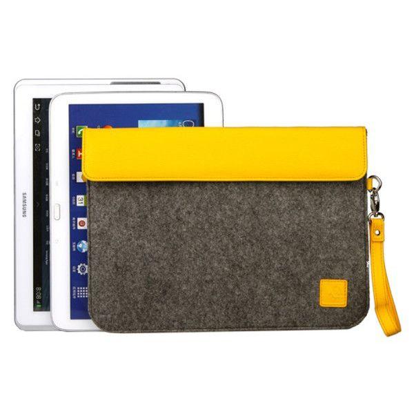 "Yellow felt sleeve for 10"" tablets"