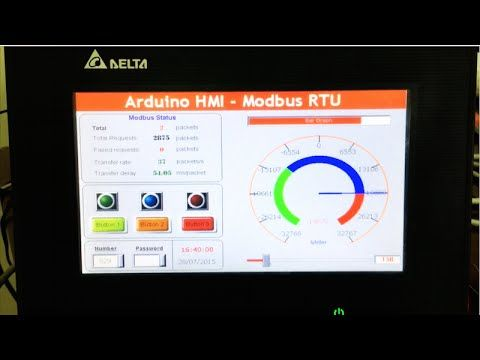Arduino Modbus RTU - Control HMI via RS485 - YouTube