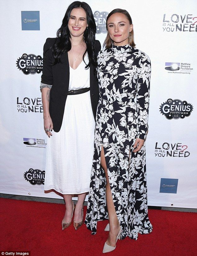 Firm friends: The 28-year-old posed on the red carpet at the ArcLight Hollywood with Briana Evigan, who stars in the film