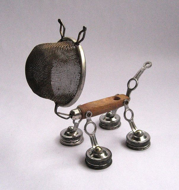 assemblage art with toys | Spike - Robot Assemblage Sculpture by Brian Marshall - a photo on ...