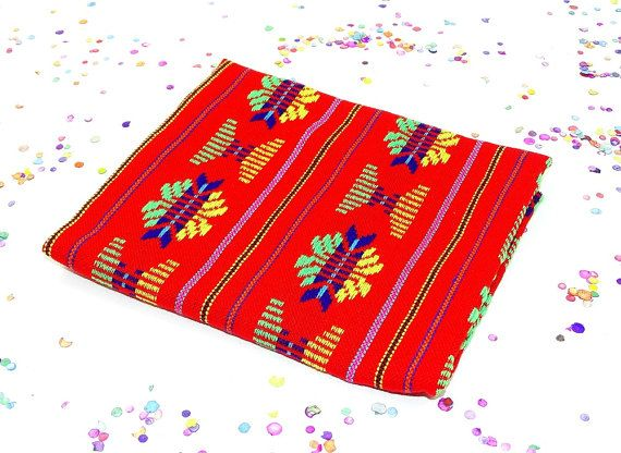 AUTHENTIC Tribal Colorful fabric from Mexico featuring tribal details and bright colors. This soft, light fabric can be used for home decor, clothing, accessories and crafts.  Your bundles includes:  * 1 yard Yellow fabric * Width: 31 inches each  * All items are sent via registered mail with a USPS tracking number. Thanks!  Day of the dead banners !!! https://www.etsy.com/listing/163799741/large-paper-day-of-the-dead-banners-16?ref=shop_home_active_32  Have any questions? Contact the shop…