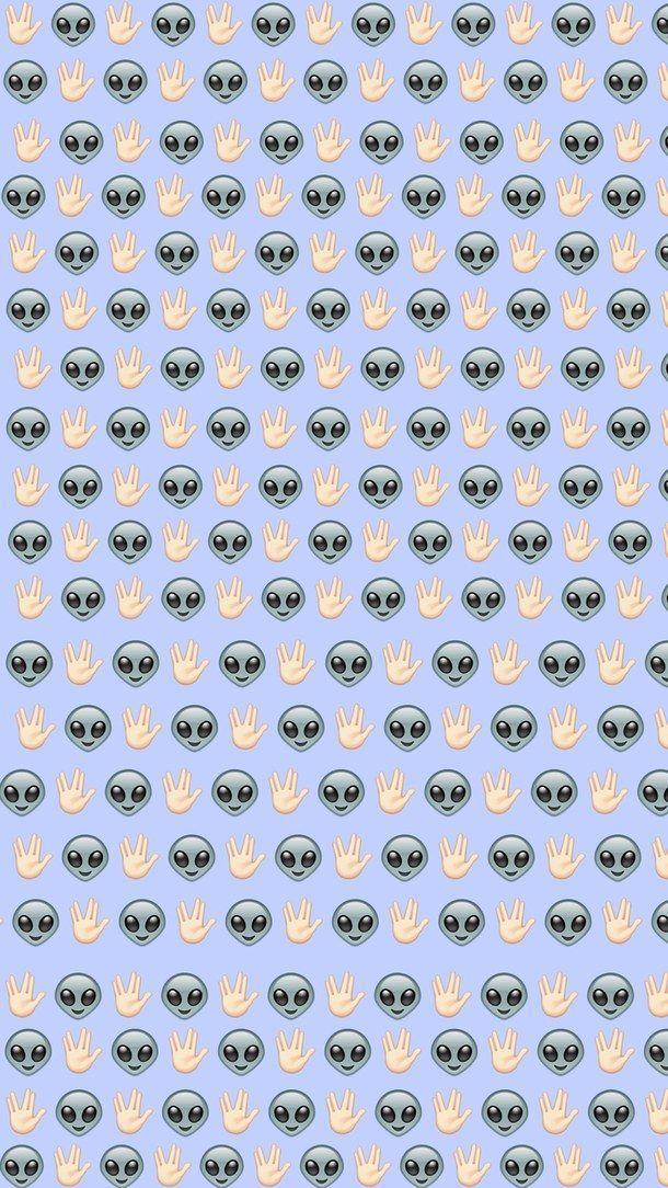 Resultado de imagen para alien emoji iphone wallpaper