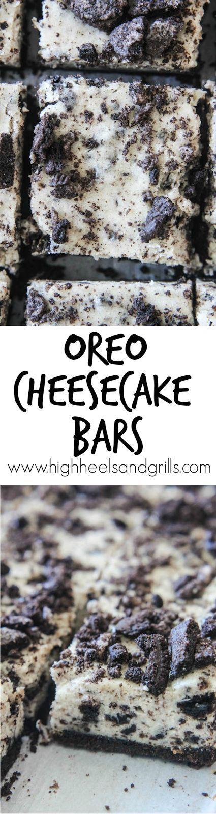 Intimidated by making cheesecake? Start with these Oreo Cheesecake Bars. They're such an easy dessert! http://www.highheelsandgrills.com/2015/03/oreo-cheesecake-bars.html