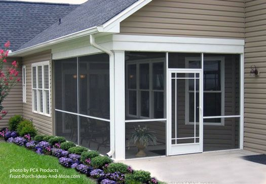 How's this for an inviting screen porch - wonderful door. #porch