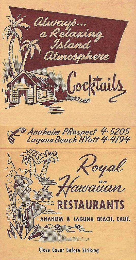 "https://flic.kr/p/bDBG52   Royal Hawaiian Restaurant, Anaheim   1025 S. Los Angeles Street (now Anaheim Blvd). Anaheim, California  <a href=""http://www.anaheimhistoricalsociety.com"" rel=""nofollow"">www.anaheimhistoricalsociety.com</a>"