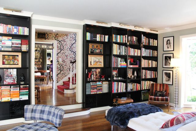 Giant living room library, via @Apartment Therapy
