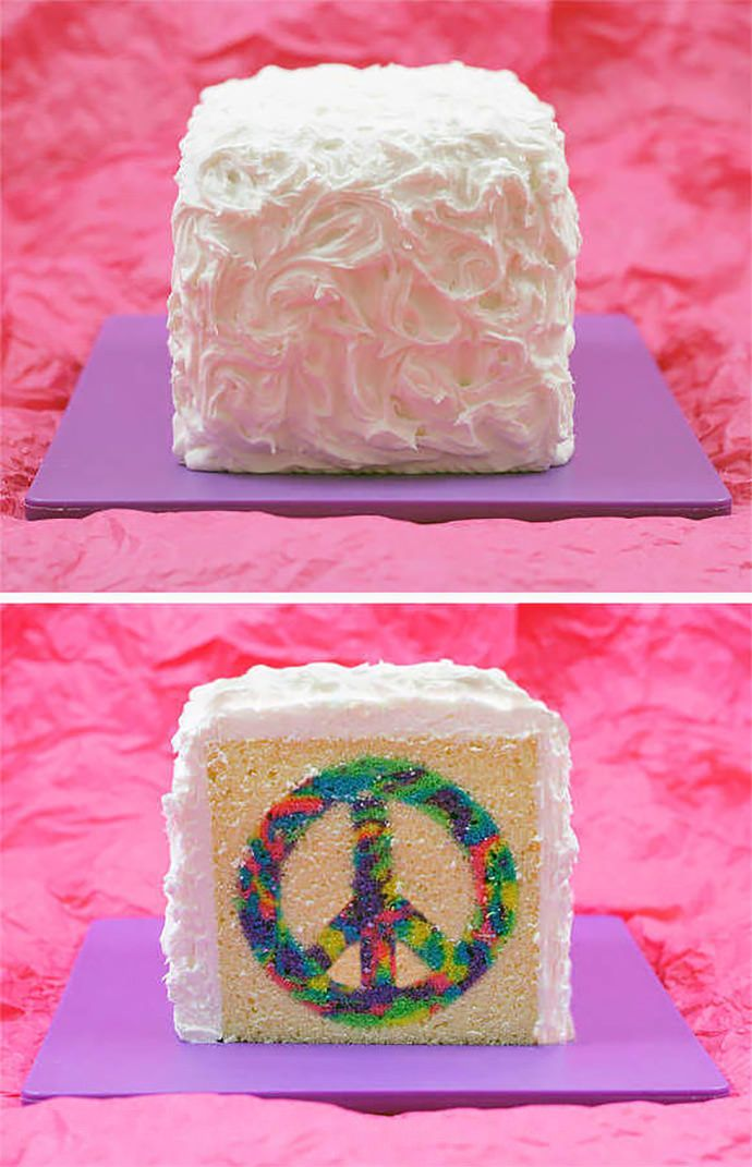 How to make a tie-dye cake {so cool!} Who knew it was this easy?! @Colleen Sweeney Sweeney Sweeney Sweeney Scagnetti we need to make this too!