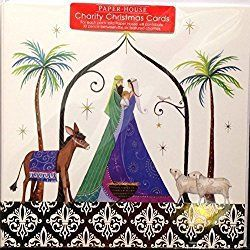 A Pack Of 6 Charity Christmas Cards By Paper House Luxury Cards ~ Top Quality