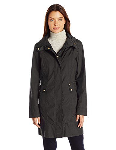 Cole Haan Women's Single Breasted Packable Rain Jacket with Removable Hood - http://www.darrenblogs.com/2017/03/cole-haan-womens-single-breasted-packable-rain-jacket-with-removable-hood/