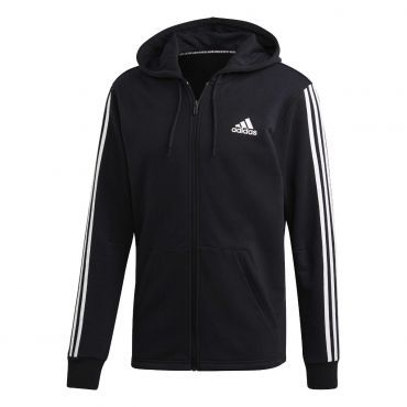 huge selection of 77c62 6185f adidas Must Haves 3S Full Zip French terry Hoody vest heren black
