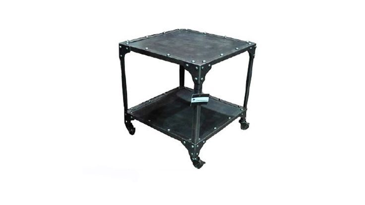 Size:  510X510X560 Antique metal trolley. Our fabulous rustic range of industrial furniture. Freight is additional.