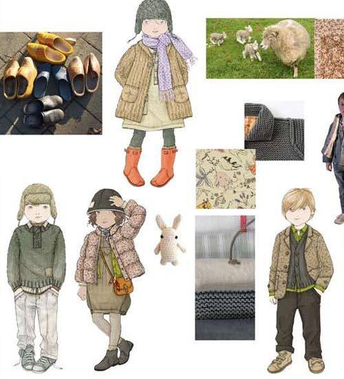 """Far Off Lands"" Winter (Invierno) Children's Clothing Color Trends 2012 Peclers for CIFF (Copenhagen International Fashion Fair { via Nuestros Hijas }"