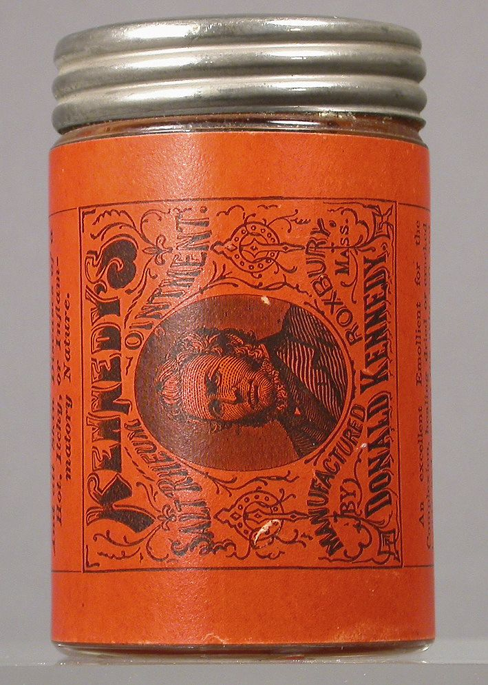 Kennedy's Salt Rheum Ointment. The indications or uses for this product as provided by the manufacturer are: Cures salt rheum, scurvy sores, inflammatory piles, erysipelas sores, ulcers on the legs, lichen, frost bites, chilblains, burns and scalds, scald head, sore nipples, nursing sore mouth, ringworms, sore ears, earache, venemous bites, inflamed and sore eyes, chafing and galling on man or beast, and all skin diseases of a hot, itchy or imflammatory nature.