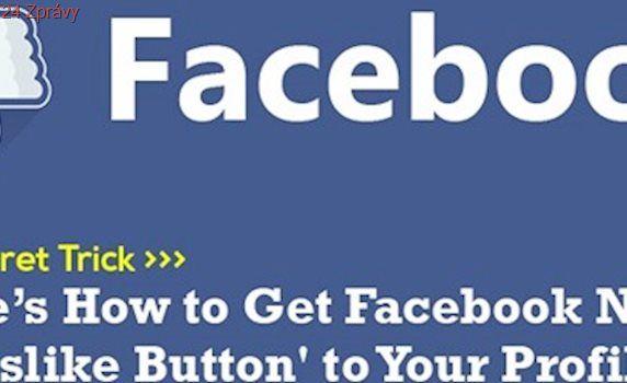 """Facebook začíná testovat tlačítko """"To se mi nelíbí"""". Zatím jen omezeně"""