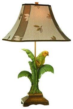 tropical table | Coastal Kathy Ireland Tropical Parrot Table Lamp tropical table lamps
