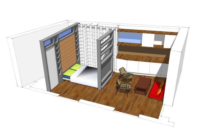 1000 id es sur le th me plans de petite surface sur pinterest plans archite - Architecte interieur paris petite surface ...