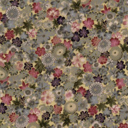 Robert Kaufman Fabrics: HRK-551104L-1 from Hyakkaryouran Sateen