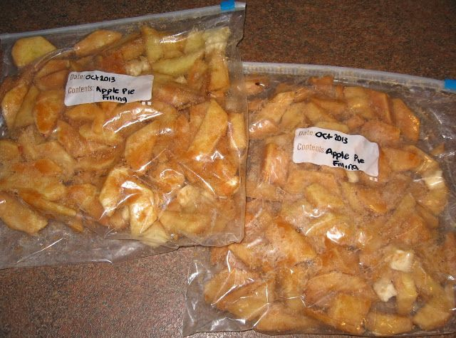 FREEZER APPLE PIE FILLING Much easier than canning as there is no cooking involved! When ready to bake, thaw and use as you would fresh apples.